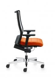 Bureaustoel met oranje zitting