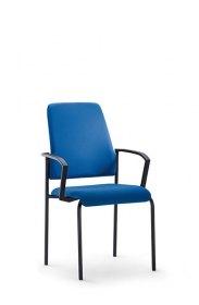 Interstuhl bezoekersstoel 450G 4-poots stabelbaar armleggers