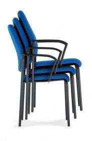 Interstuhl bezoekersstoel 450G stabelbaar met armleggers