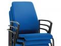 Interstuhl bezoekersstoel 450G vierpoots stabelbaar armleggers