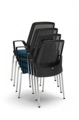 Interstuhl bezoekersstoel armleggers stapelbaar BUDDYis3 470B