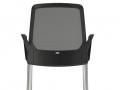 Interstuhl vierpootsstoel armleggers stapelbaar BUDDYis3 470B