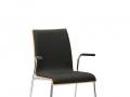 Interstuhl bezoekersstoel zitting en rugleuning doorlopend gestoffeerd stapelbaar CURVEis1 C23V