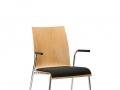 Interstuhl vierpootsstoel zitting gestoffeerd stapelbaar CURVEis1 C21V