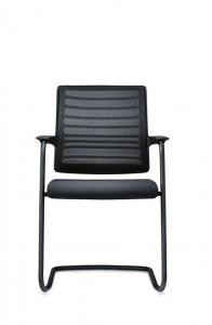 Interstuhl bezoekersstoel armleggers netbespanning stapelbaar 570H