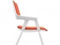 Interstuhl MOVYis3 bezoekersstoel met wielen oranje 46M5