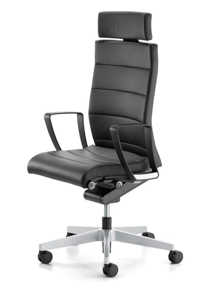 Interstuhl Champ 3C22 bureaustoel zwart leer